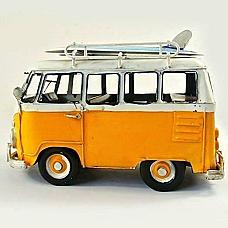RETRO VW Volkswagen Combi Kombi Van with surfboards hand made Metal