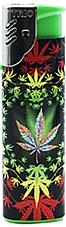 Marijuana hippy leaf  gas refillable large lighter  jet flame windproof