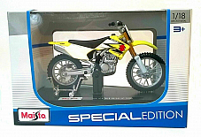 SUZUKI RM-Z 250 - 1:18 Scale Die-Cast MX Motocross Motorbike Model by Maisto