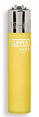 Clipper super lighter gas refillable , Micro soft touch yellow