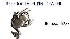 Tree Frog  Brooch 3D Pewter
