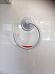 3 NEW NALEON VACUUM ROBE HOOK WHITE USE ON GLASS, TILES, CERAMICS, PLASTICS.