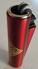 Clipper metal micro unique rare pattern collectable  Red