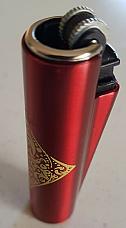 Clipper metal micro unique rare pattern collectable  Red