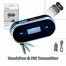 Handsfree Wireless FM Radio Audio Transmitter 3.5mm USB Car Charger for iPhone 5
