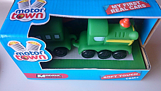Motor Town  toys high quality soft touch Train and carriage made in Italy 18m+