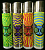 4 x Trippy Cat, Refillable Clipper Lighters (EB66)
