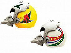 New Ray  Racing Collection fighter pilot Helmet  1:6  die cast model