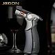 Jobon 4 Flame Jet Torch Lighter Windproof Refillable Gift Cigar Cigarette Grey
