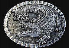BELT BUCKLE -  Crocodile - AUSTRALIAN MADE comes in a velvet bag great gift