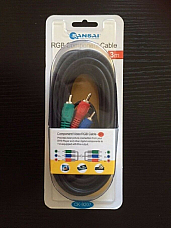 Sansai RGB Component cable 3 metres CK-9207 3 RCA PLUGS-3 RCA PLUGS 3 YR WARRANT