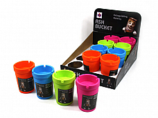 4 x   coloured Butt Bucket Ash Trays  11*8 CM Good value fast free shipping