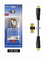 Sansai ,Coaxial Cable with Adaptor,TV-  ANTENNA-VCR-AMP 3YR REPLACEMENT WARR