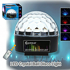 NEW led crystal ball fantastic new light system great for parties