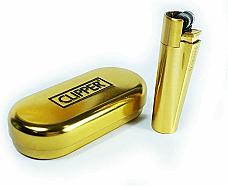 Clipper limited edition Shine/Matt  gold, genuine product 2 year warranty flint