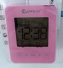 Large LCD Digital Display Alarm Clock Battery Desk Table Bedside Backlight