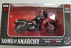 Maisto 1:18 scale Sons of Anarchy Harley Davidson 2008 Dyna Supa Glyde Sport