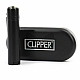 clipper lighter matt black normal flame, genuine product 2 year warranty