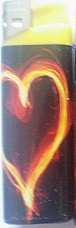new gas refillable electronic love lighter one pick your pattern  fast shipping