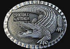 BELT BUCKLE -  Crocodile - AUSTRALIAN MADE comes in a velvet bag great gift  Cro