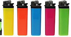 Fluro disposable large lighters lot of five assorted colours great quality