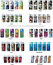 WHOLESALE LOT OF ELECTRONIC REFILLABLE PATTERN LIGHTER