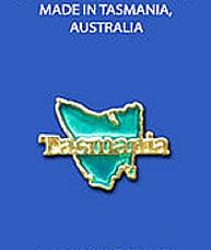 Tasmania Map Brooch 3D Pewter