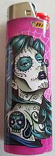Bic lighter, maxi unique pattern tattoo lady