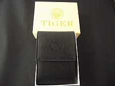 Tiger cigarette case black soft leather comes with gas refillable lighter