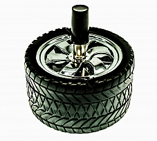 ASHTRAY TYRE SPINNING TYPE HIGH QUALITY  comes  with a bonus shaver shaped wind