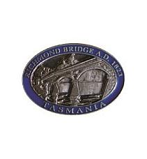 Historic Richmond Bridge Tasmania  Brooch 3D Pewter