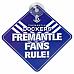 AFL Freemantle Team Fans Rule Car Window Sign fast post