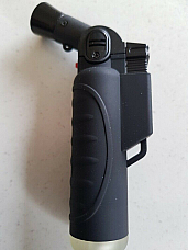 Jet  Flame Butane soft touch Black  hand held Torch Lighter powerful flame