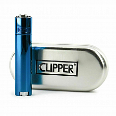 clipper metal lighter Blue normal flame, genuine product 2 year warranty