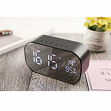Sansai Multifunction Rechargeable Bluetooth Speaker/Clock/Radio Aux/USB Input