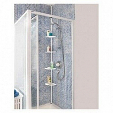 Bathroom / shower 4 shelf  adjustable Bathroom pole
