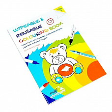 Magic Whiteboard Childrens Wipeable Reusable Colouring in Book A4