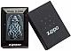 Zippo Black Matte Winged Monster design