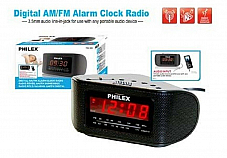 Clock radio with large led display high quality, value philex 12 month warranty