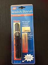 Watch Band 18 mm mens leather complete with pins and lug tool