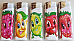 MRK/Zico LIGHTER GAS REFILLABLE  FRUIT pattern x 5 set New release collectable