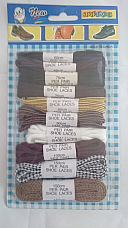 Assorted  shoe laces pack of ten pairs assorted