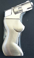 Zico jet lighter gas refillable new style electronic lady shaped gun lighter