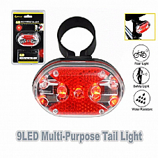 Sansai, 9 LED Multi-Purpose Tail Light,Compact rear light, 7 mode multi-purpose