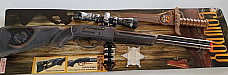 Cow boy Western Rifle Set, Rifle with scope  Sheriffs Badge  and accessories