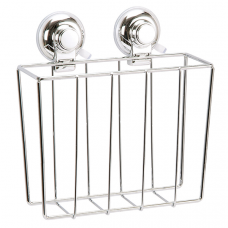 CLASSIC CHROME WIRE MAGAZINE RACK