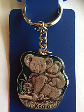 Koala  key ring  made of the highest quality pewter great detail 3 D