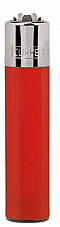 Clipper super lighter gas refillable collectable, solid Red