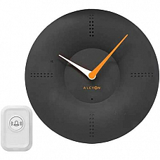 Alcyon Numberic Wall Clock  - Wireless Remote Doorbell Door Bell Black
