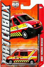 matchbox 60TH ANNIVERSARY  MBX HEROIC RESCUE COLLECTOR SERIES, RENAULT AMBULANCE
